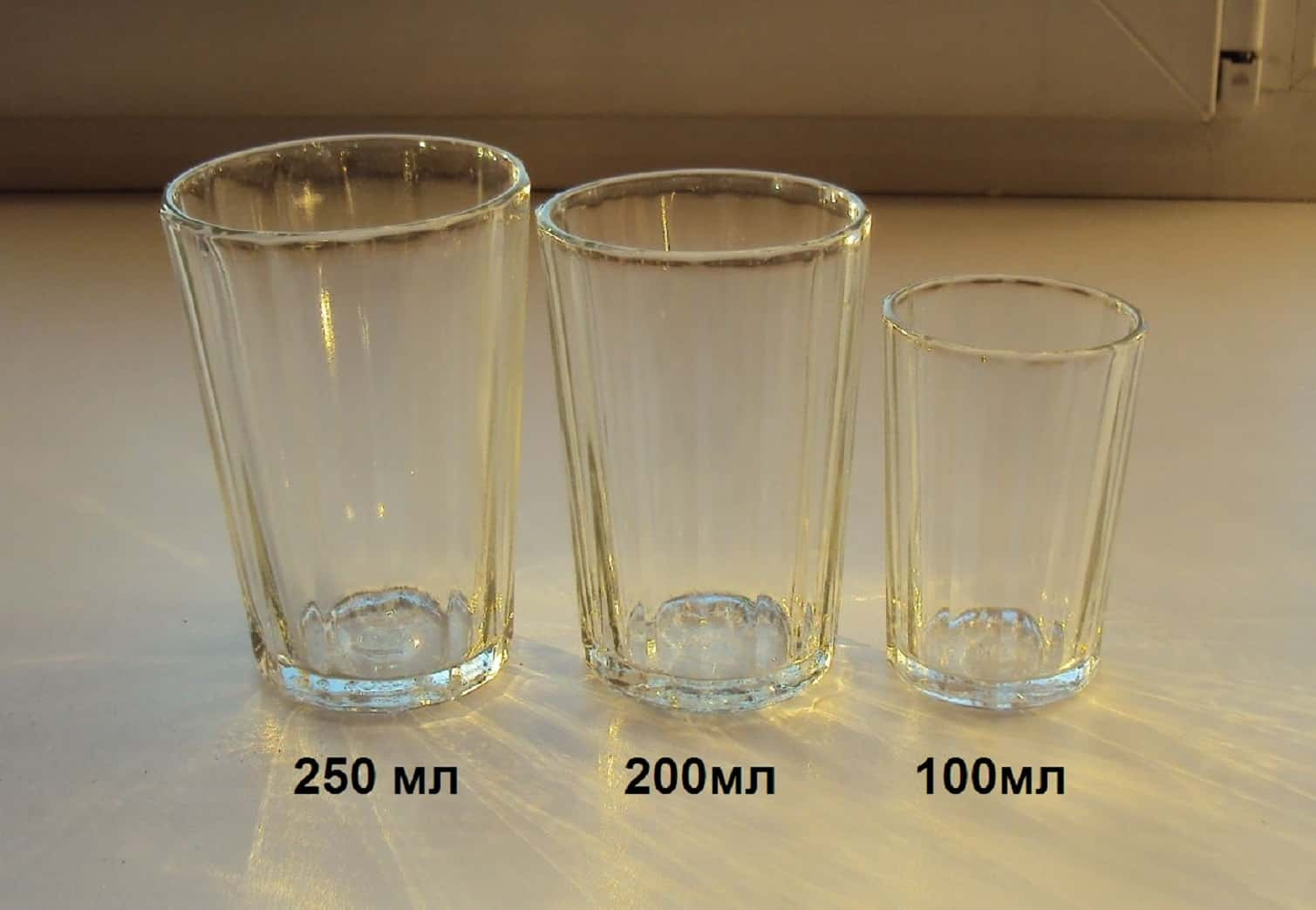 Сколько мл в граненом стакане