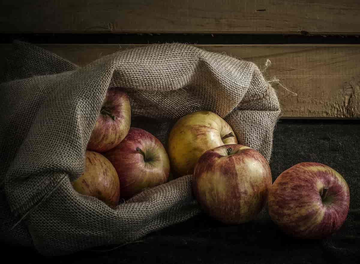 сколько кг яблок в мешке (килограмм)