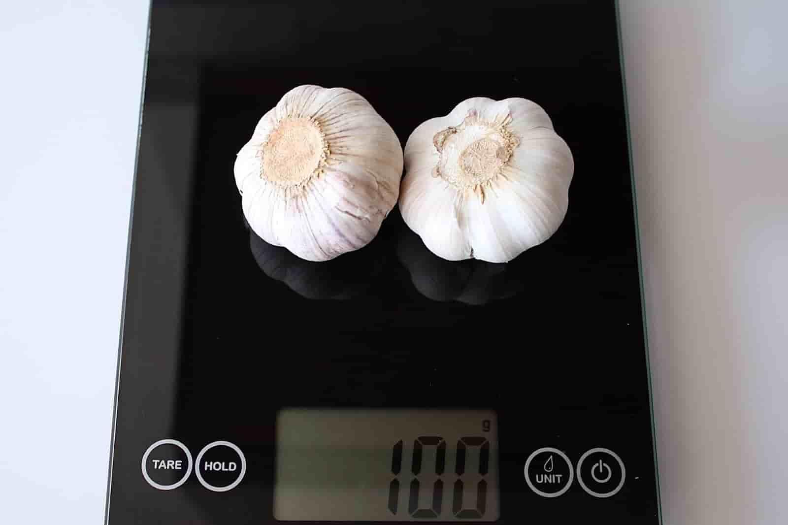 100 грамм чеснока (Вес продуктов)