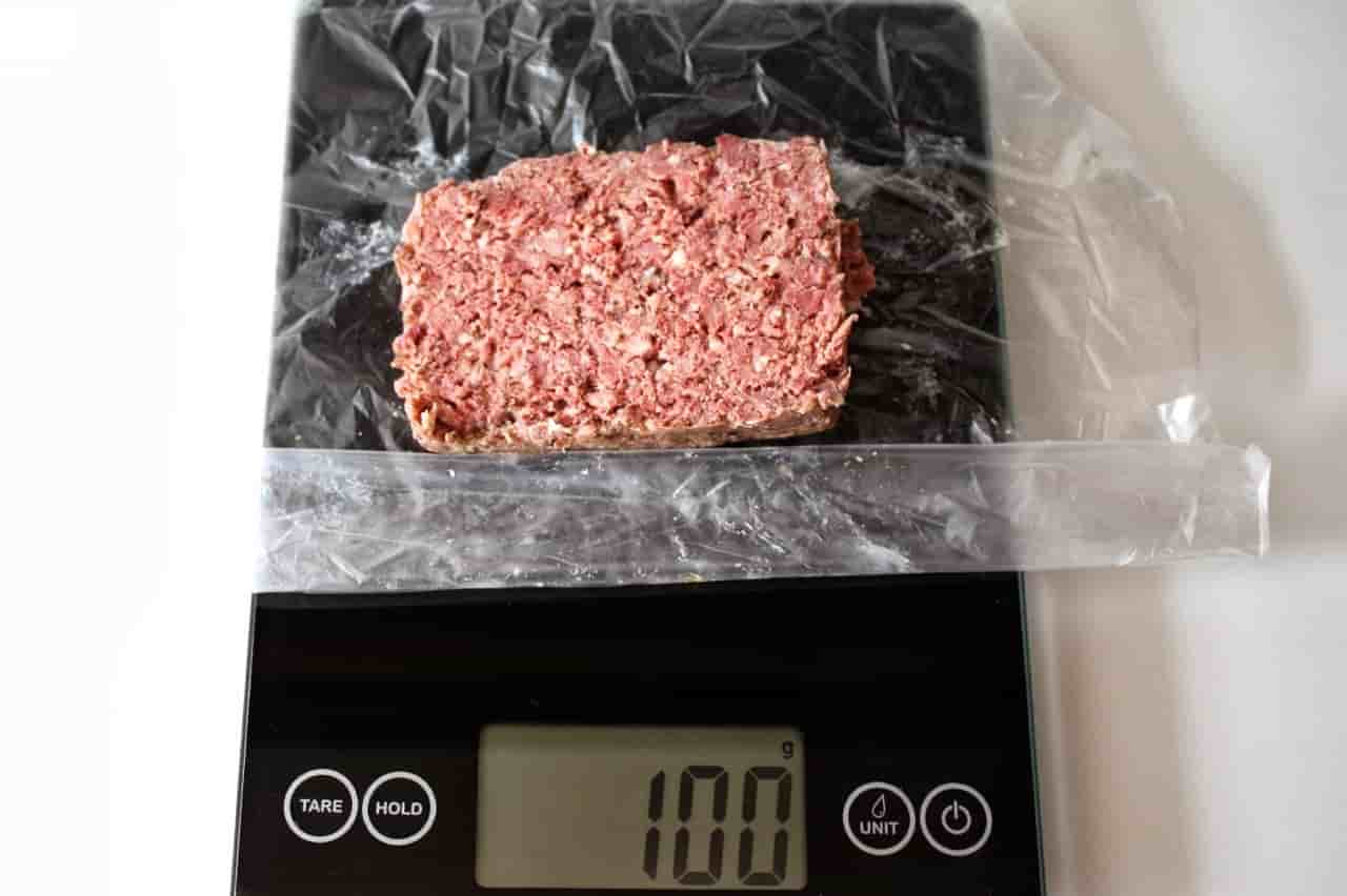 100 грамм фарша (Вес продуктов)