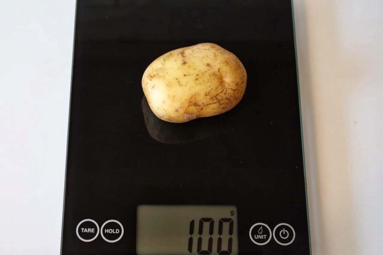 100 грамм картофеля (Вес продуктов)