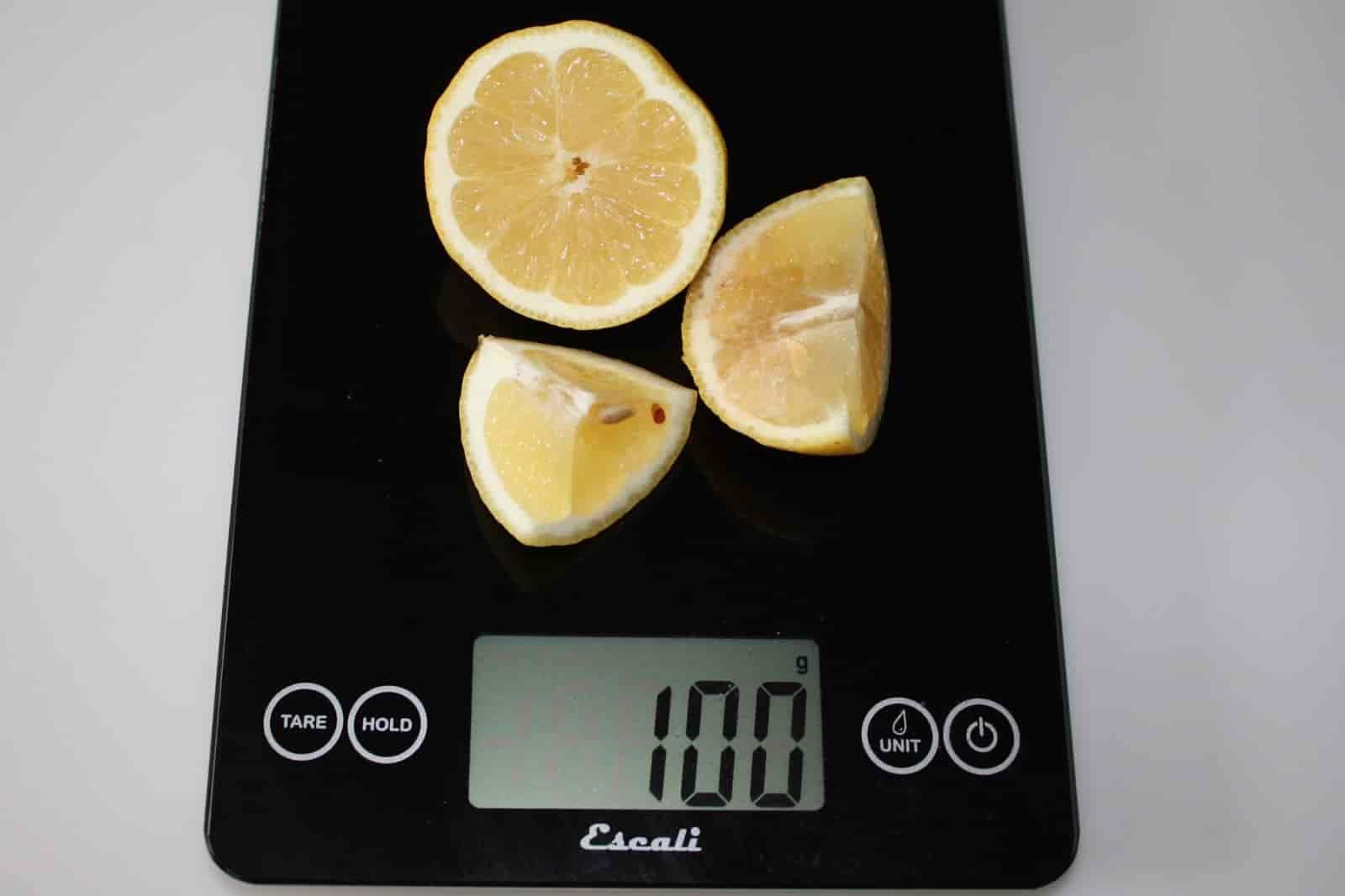 100 грамм лимона (Вес продуктов)
