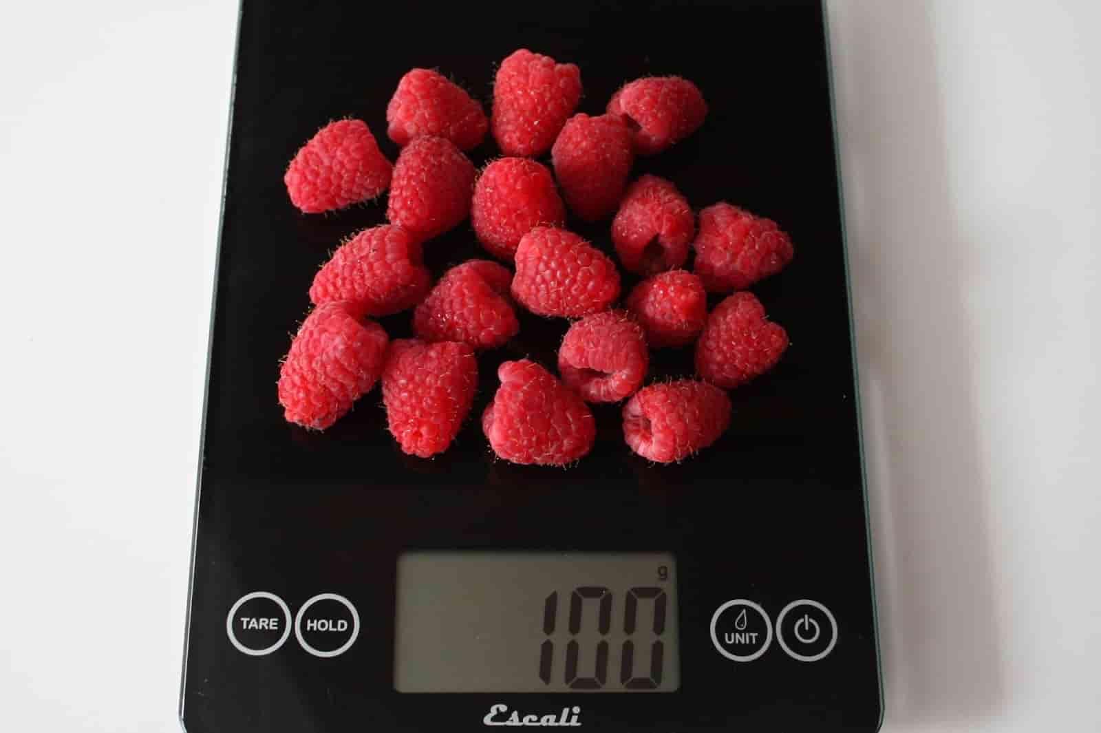100 грамм малины
