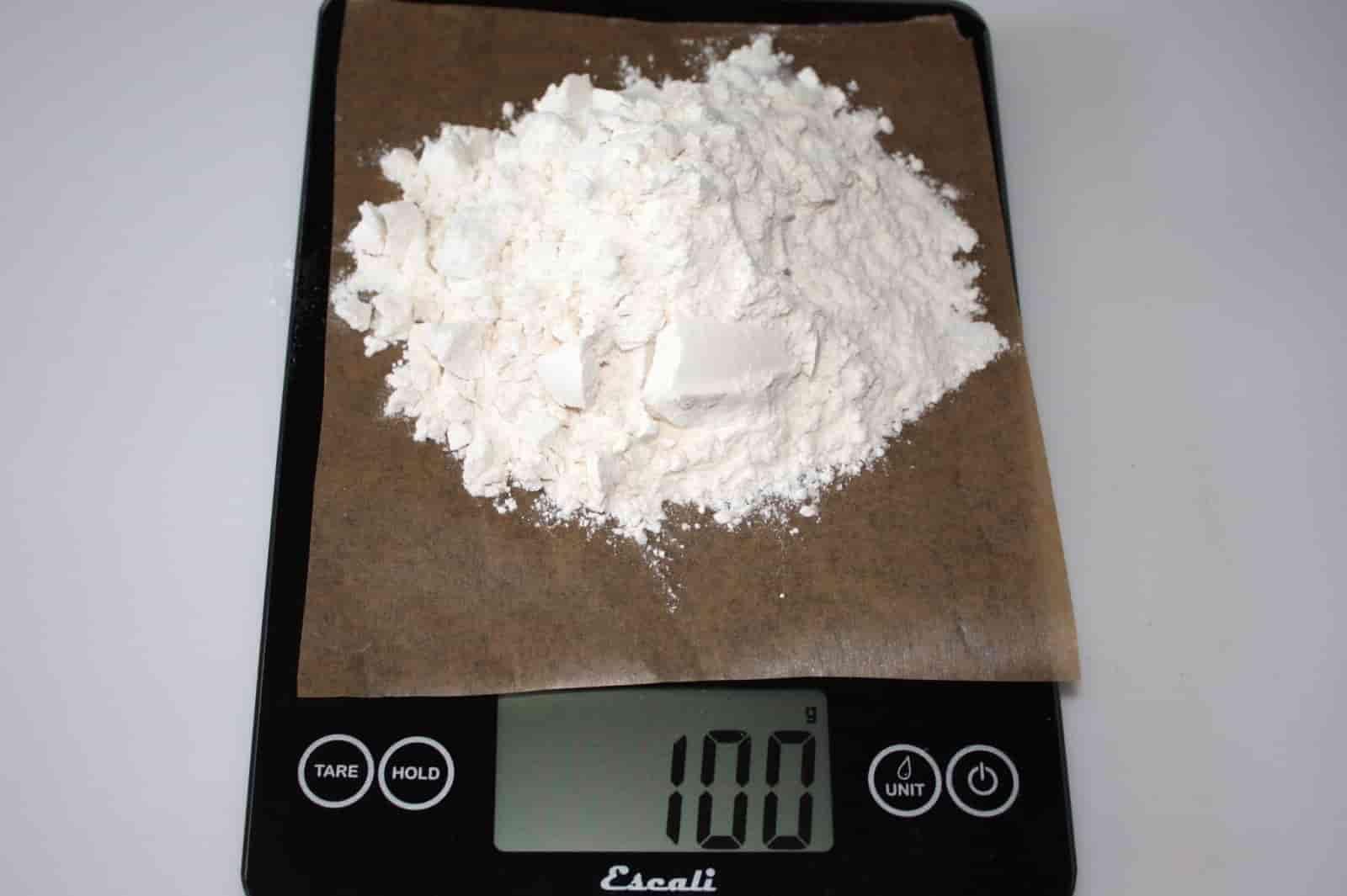 100 грамм муки (Вес продуктов)