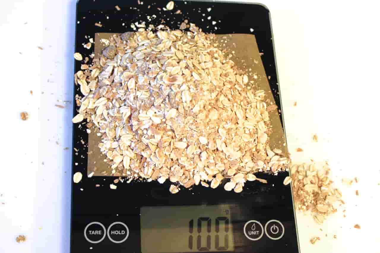 100 грамм мусли (Вес продуктов)