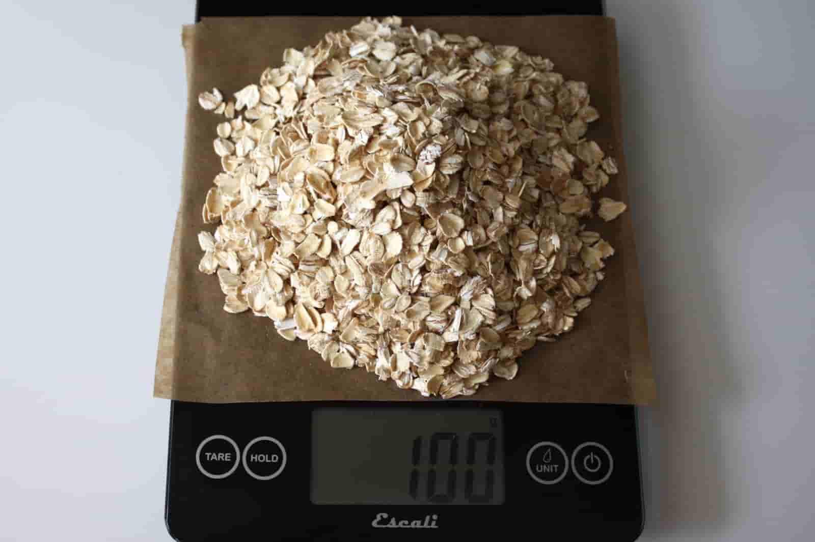 100 грамм овес (Вес продуктов)