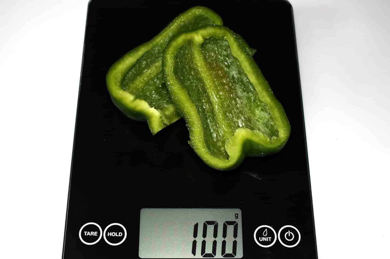 100 грамм перца (Вес продуктов)