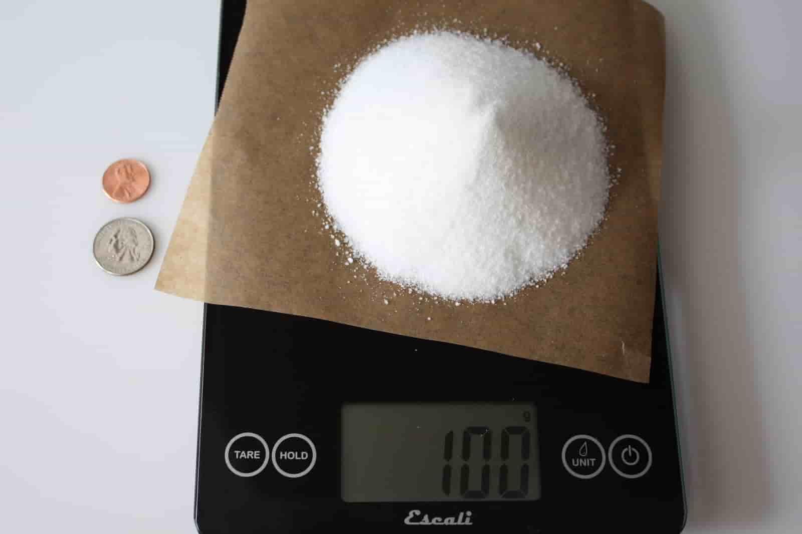 100 грамм сахара (Вес продуктов)
