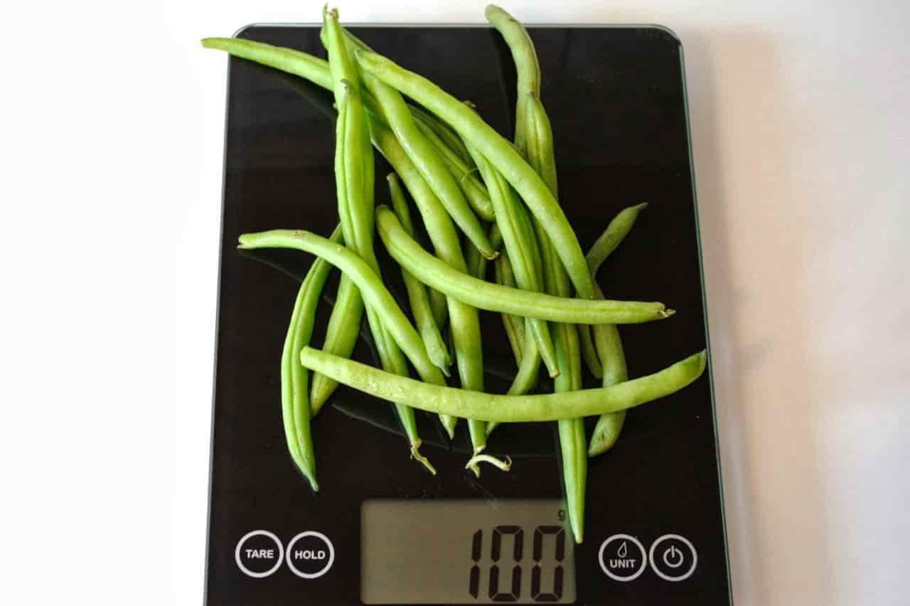 100 грамм стручков (Вес продуктов)
