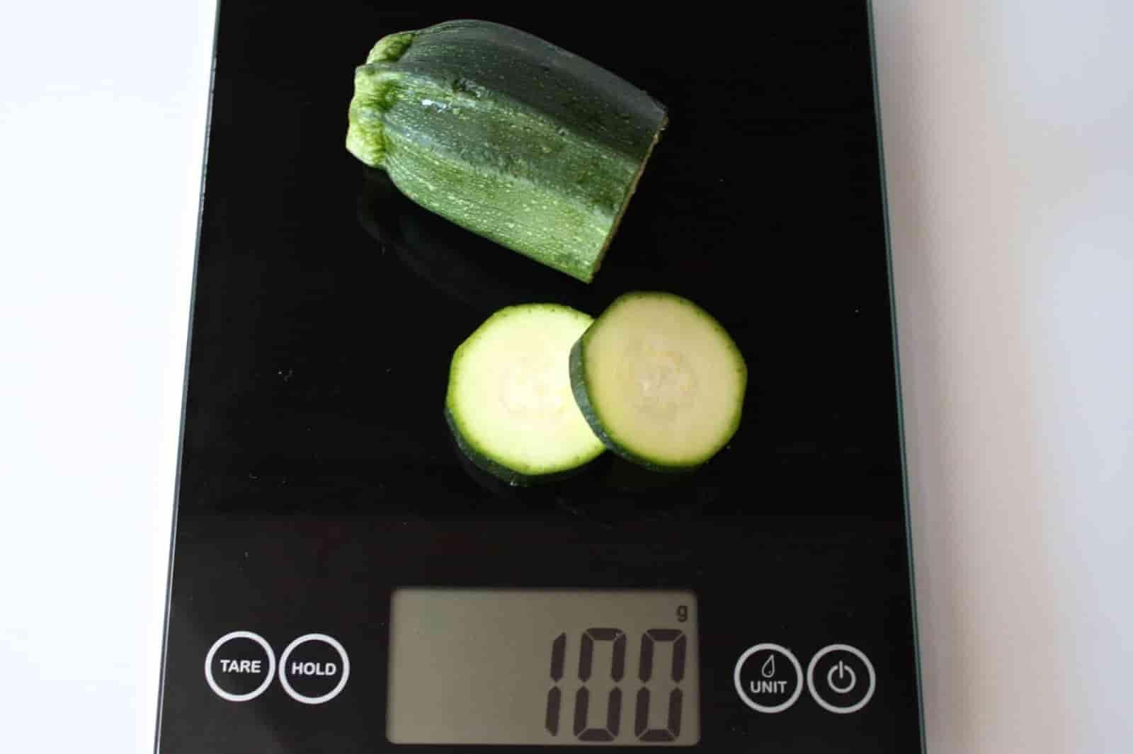 100 грамм цукини (Вес продуктов)