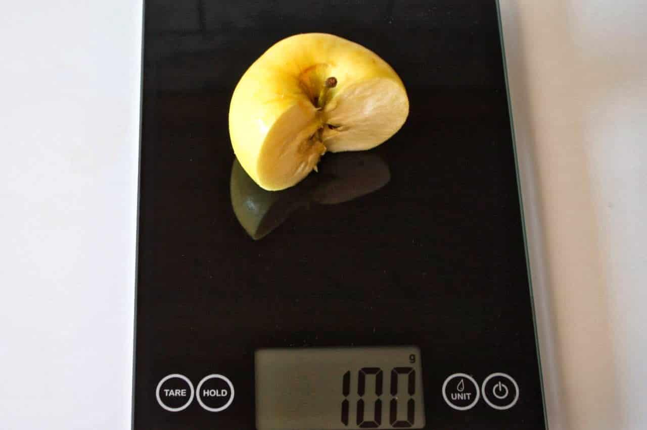100 грамм яблока (Вес продуктов)