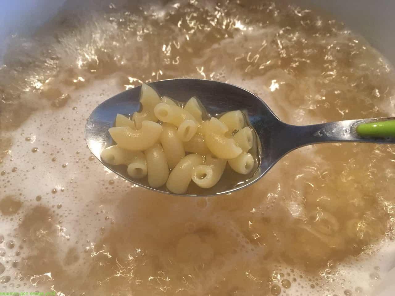 Сколько грамм макарон в ложке